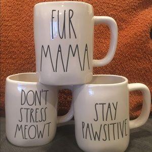 Rae Dunn DONT STRESS MEOWT• PAWSITIVE FUR MAMA Mug